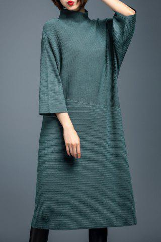 Turtleneck Batwing Sleeve Sweater Dress