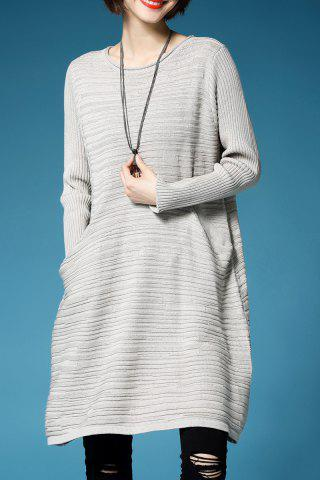 New A Line Oversized Mini Sweater Dress - ONE SIZE(FIT SIZE XS TO M) GRIEGE Mobile