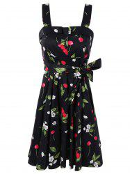 Garden Air Floral and Cherry Print Dress