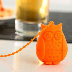 High Quality Food Grade Silicone Cute Owl Filter Diffuser Tea Strainer -