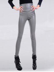 High Waisted Skinny Faux Leather Pants