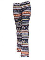 Trendy Elastic Waist Geometric Print Slimming Women's Pants