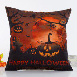 Uncanny Halloween Night Pumpkin Face Pattern Pillow Case