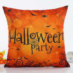 Retro Halloween Party Spider Web Insect Design Pillow Case -