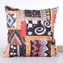 Delicate Irregular Goemetry Joint Scrawl Design Pillow Case