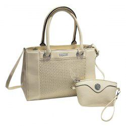 Elegant Weaving and PU Leather Design Totes For Women -