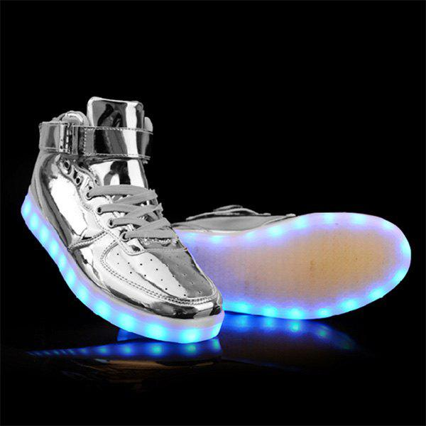Outfit Stylish Tie Up and Lights Up Led Luminous Design Casual Shoes For Men