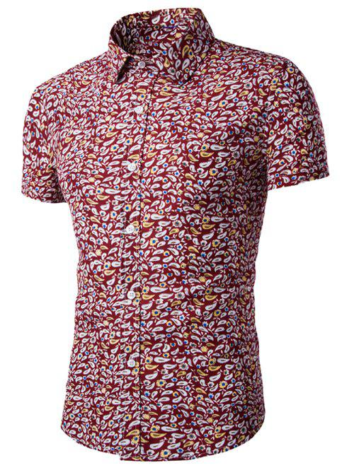 Affordable Casual Shirt Collar Fitted Floral Shirt For Men