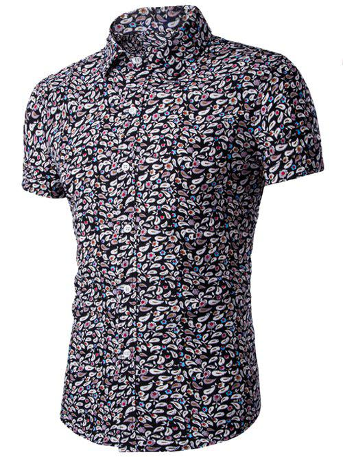 Buy Casual Shirt Collar Fitted Floral Shirt For Men