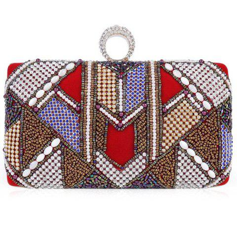 Outfits Ethnic Beading and Ring Design Evening Bag For Women