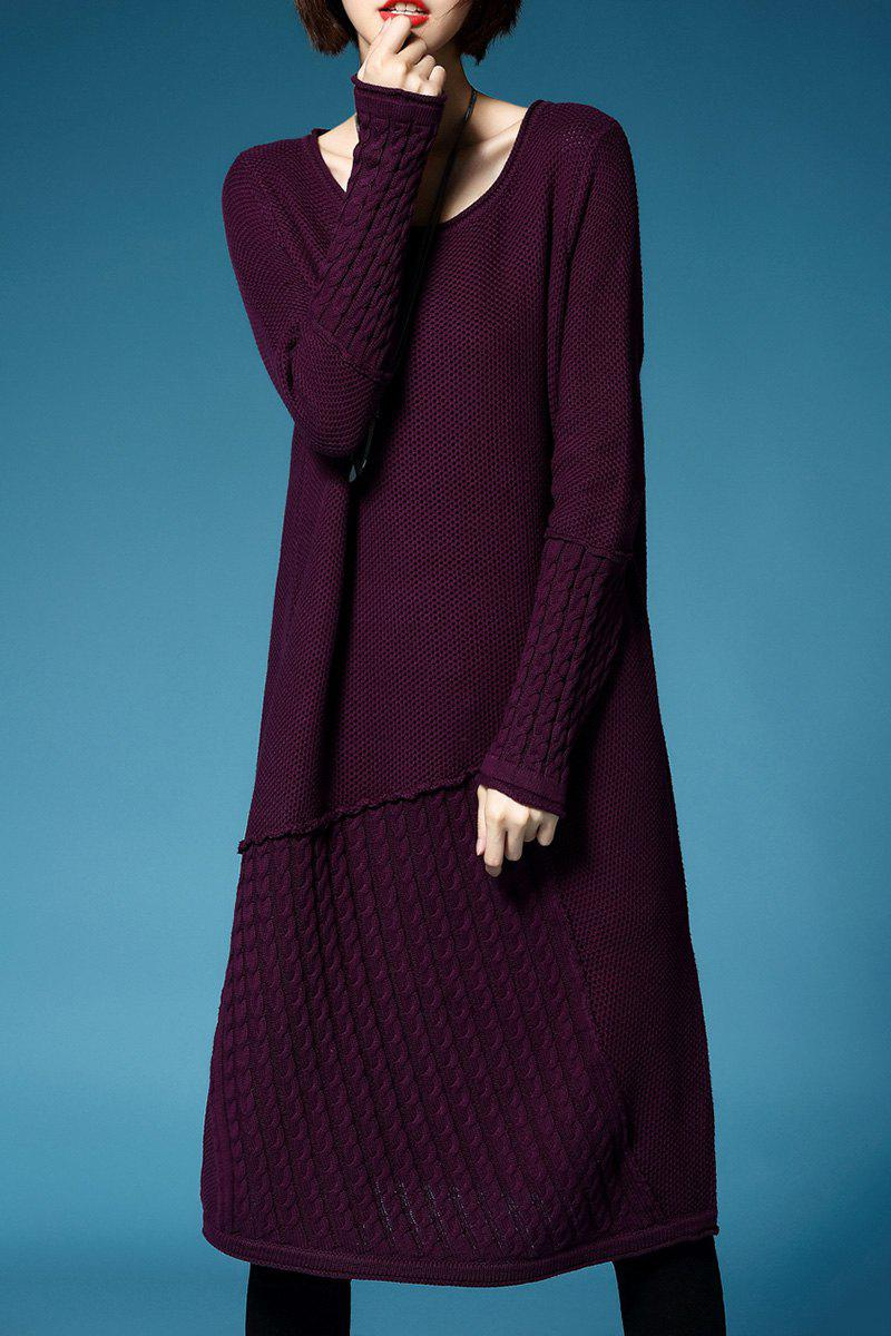 Trendy Knee Length A Line Sweater Dress