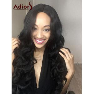 Adiors Long Shaggy Wavy Centre Parting Synthetic Wig
