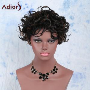 Outstanding Side Bang Mixed Color Short Fluffy Curly Women's Synthetic Wig