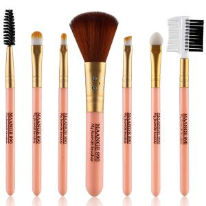 7 Pcs Nylon Facial Eye Lip Makeup Brushes Set