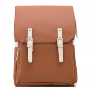 Fashion PU Leather and Double Buckle Design Backpack For Men