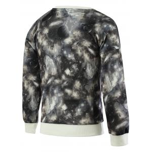 Fashionable Galaxy Print Round Neck Long Sleeve Sweatshirt For Men -