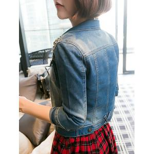 Chic Pocket Rivet Jacket For Women -
