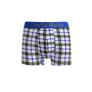 Cherlamode 3PCS (Three Color) Tartan Pattern Boxer Briefs For Men - COLORMIX XL