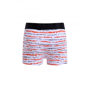 Cherlamode 3PCS Color Block Stripe Pattern Boxer Briefs For Men - COLORMIX XL
