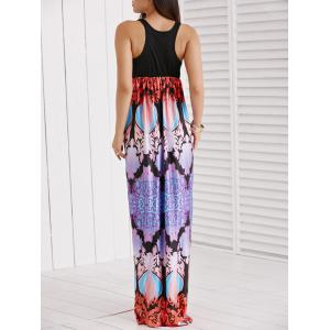 Sleeveless Printed Spliced Women's Dress -