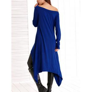 Skew Neck High Low Asymmetric Dress -