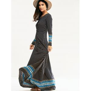 Bohemian Slimming V-Neck Full Sleeve Dress For Women -