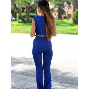 Chic V-Neck Sleeveless Solid Colour Jumpsuit For Women -