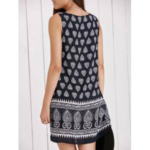 Vintage Scoop Neck Tribal Print Shift Dress -