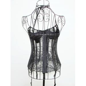 See-Through Halter Neck Laciness Corset -