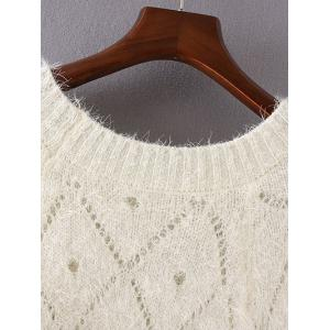 Openwork Loose-Fitting Shaggy Sweater -
