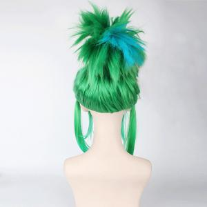 League of Legends LOL	Arcade Riven Fluffy Blue Highlight Straight Cosplay Wig -