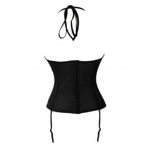 Halter Neck See Through Backless Corset -