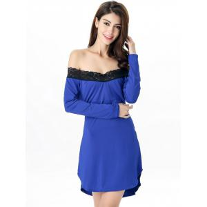 Off-The-Shoulder Laciness High Low Babydoll -