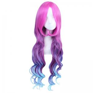 League of Legends LOLArcade Miss Fortune Fluffy Wavy Multicolor Ombre Long Cosplay Wig - COLORMIX