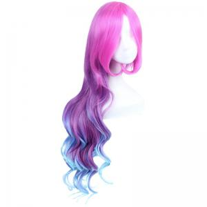 League of Legends LOL	Arcade Miss Fortune Fluffy Wavy Multicolor Ombre Long Cosplay Wig - COLORMIX