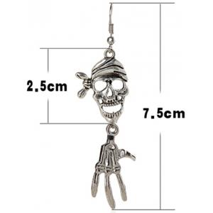 Pair of Halloween Pirate Skull Earrings -