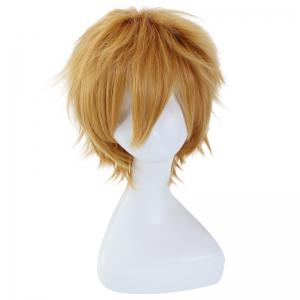 League of Legends LOL	Ezreal Fluffy Straight Flaxen Short Synthetic Cosplay Wig -