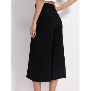 High Waist Wide Leg Capri Pants -