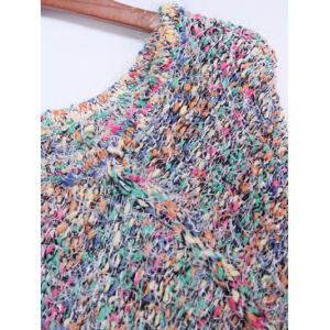 Colorful Shaggy Fringed Sweater -