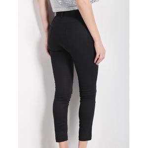 Slimming High Waist Black Pencil Pants - BLACK 2XL