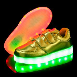 Trendy Solid Colour and Lights Up Led Luminous Design Casual Shoes For Boy -