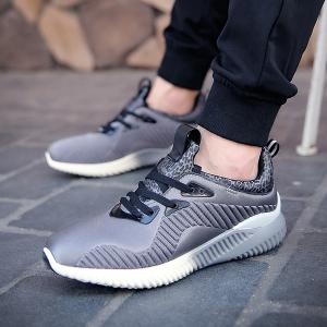 Fashion Lace-Up and Splicing Design Athletic Shoes For Men - GRAY 40
