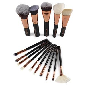 15 Pcs Nylon Facial Eye Lip Makeup Brushes Set -