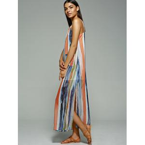 Striped Maxi Beach Slip Dress -