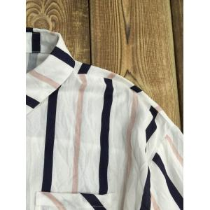 Long Sleeve Striped Color Block Shirt -