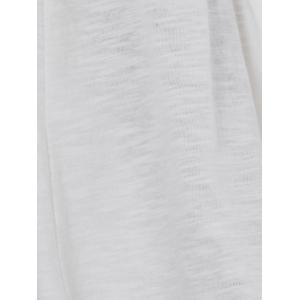 Off The Shoulder Flare Sleeve White T-Shirt - WHITE XL