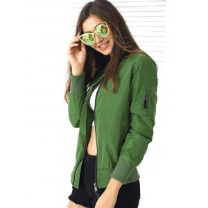 Trendy Long Sleeve Zipper Design Jacket -