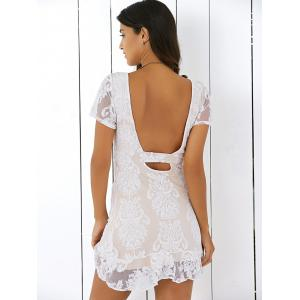 Backless Ruffled Lace Dress -