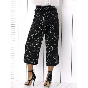Side Slit Wide-Leg Capri Pants -