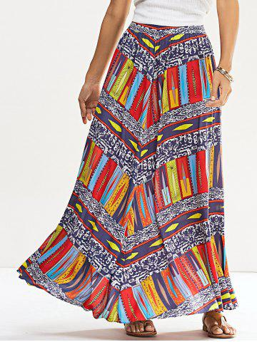 Fashion Ethinic Printed Skirt COLORMIX M